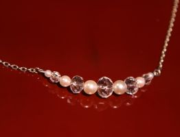 Glass Crystal and Pearl Necklace by Alicat59