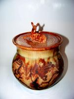Brown Marbeled Deer Jar by RenaissanceMan1