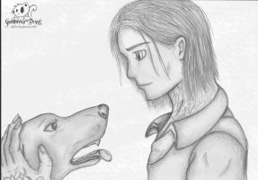Haplo and Dog by Guenhwyvar-Drizzt