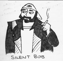 Silent Bob Smokes by Insanity540