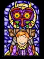 Majoras Mask Steined Glass Window by Liuen