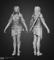 Fantasy warrior character Sculpt by Azraele