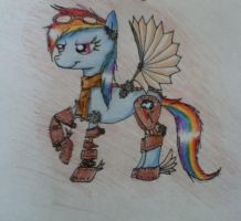 Steampunk rainbowdash by Zemi-chan