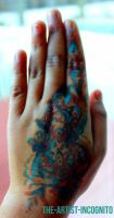 Blue Henna by The-Artist-Incognito
