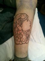 Gypsy head outline by Malitia-tattoo89