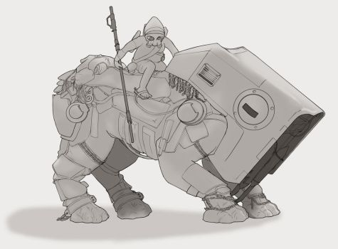 StarWars The Force Awakens mount by Witch-Haze