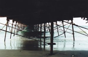 Black tunnel into the sea by theonewholikescheese