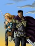 Laurana and Medan by thenumber42