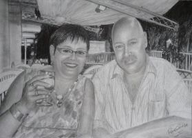 My Parents Pencil Drawing by GTracerRens