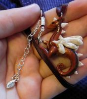 Little Red Dragon Necklace by carmendee