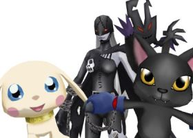 Black Gatomon Line by blazeraptor