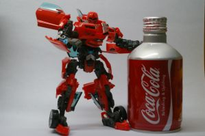 Want a drink with Cliffjumper by Howazzim