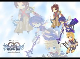 KH BBS Chibify Wallpaper by XeroBJD