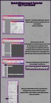 ::Quick Watermark Tutorial:: by taria