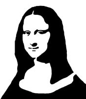 Mona Lisa Stencil by peoplperson