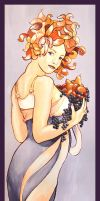 Nymph with Fruits by lidia-art
