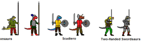 Late Republican Saurian Infantry by Bellumsaur