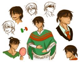 APH Mexico sketches by randomsketchez