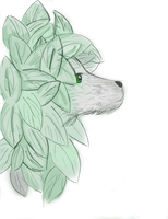 Leafy Wolf by artloverrsnp