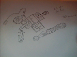 Tools of a Time Lord (drawn) by CGren123