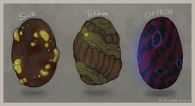 Monster Eggs for SALE 01 by LiLaiRa