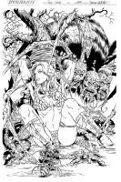 Red Sonja-spider (Ink) by johncastelhano