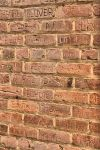 Stock Brick Wall w graffiti by kayaksailor