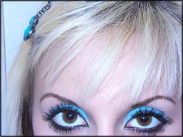 Teal makeup by maddhatter420
