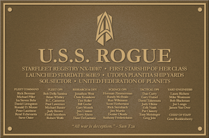 U.S.S. Rogue - New Plaque by kevmascolcha