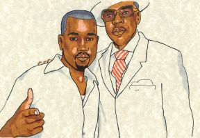 Kanye and Jay-Z by UnknownStyleX