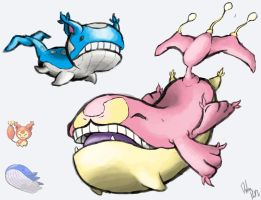 Pokemon Fusion: Wailitty and Skilord. by Pocket-Launcher