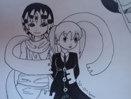 Maka and Asura by Calamity-Death