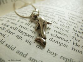 necklace and book by seasfairytale