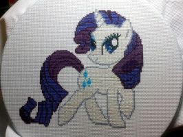 Rarity Cross-stitch by CraftingGeek