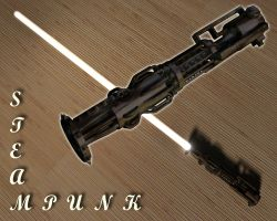 Steampunk Lightsaber by kytjunon