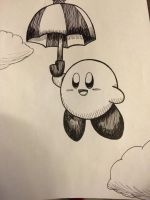 Inktober 16- Parasol Kirby by Strikerwott12