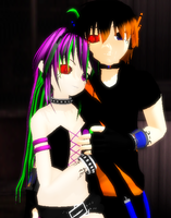 [MMD] Virus Couple by khftw