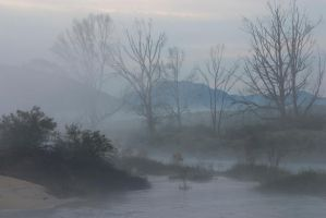 Stock... Misty River by RhysBriers