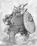Dwarven warrior by AbePapakhian
