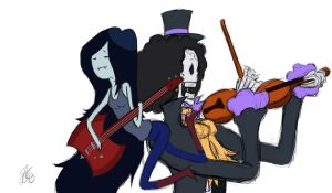 MARCELINE and BROOK Binks Fries and Sake finished by Commie-Panda