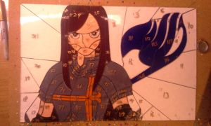 Stained glass ERZA FAIRY TAIL grinding completed by cram6