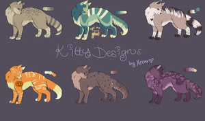 Colorful Kitty Adoptables 1 [CLOSED] by Xecax