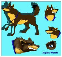 Character reference sheet - AlphaWiesli by StanHoneyThief