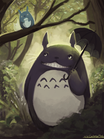 Totoro by LilyOndine