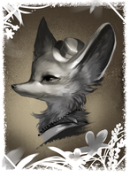 Portrait of a Fox by starrelly-chan