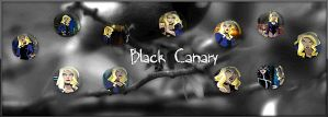 Black Canary Banner by pinkrangerwannabe