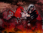 Talonflame and Ezio by EmoHoodieDude