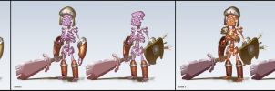 Level and Color Variations: Skeleton Warrior by Asashi-Kami