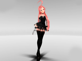 NEWCOMER MMD Miki SF Crasy black Ver. DOWNLOAD. by Queen00