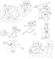 phineas ferb MM bocetos by firerirock